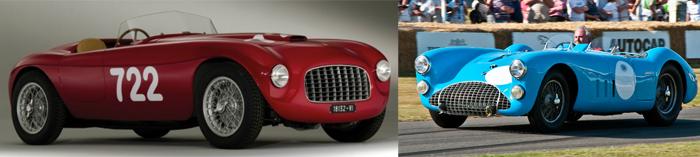 Ferrari 166 et Talbot T26GS Le Mans